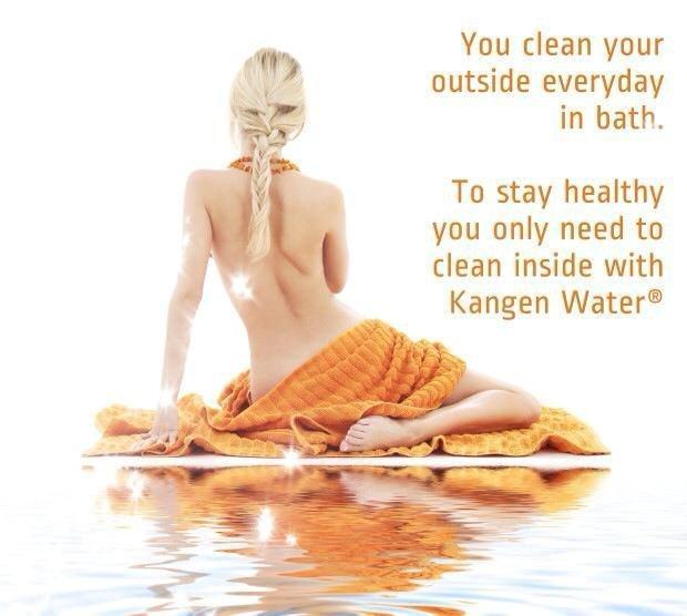 חיצוני אתה מנקה את עצמך יום יום באמבטיה... כדי להישאר בריא אתה צריך ניקוי פנימי עם מים בריאים קנגן